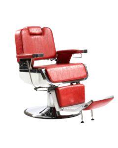 Poltrona barbiere con poggiapiedi.